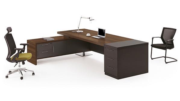 现代时尚L型老板办公桌椅大班台