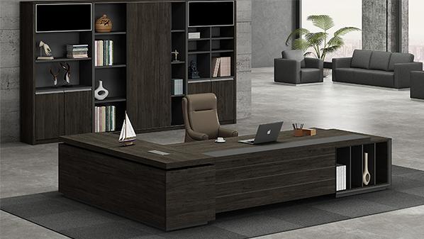 现代时尚高端实木老总办公桌椅大班台
