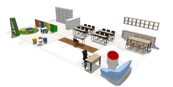 社区服务中心办公桌椅