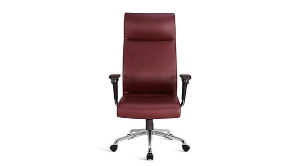 红色升降调节高度真皮老板椅带轮子扶手价格